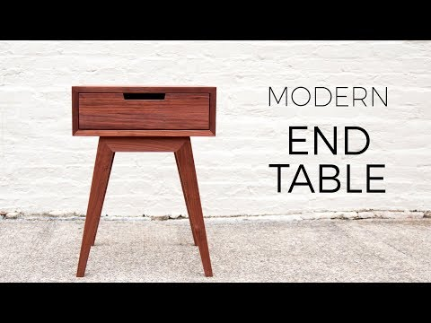 Modern End Table / Side Table | DIY Woodworking Projects