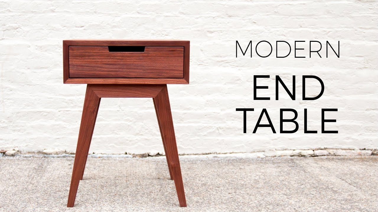 Modern End Table Side Table Diy Woodworking Projects Youtube