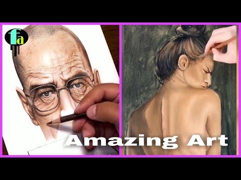 Caretive people    Amazing art video   Beautyful painting……..!!!!!!!