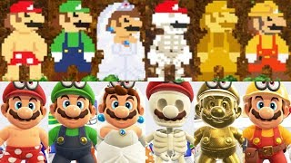 Super Mario Odyssey All 8 Bit Mario Costumes Hats