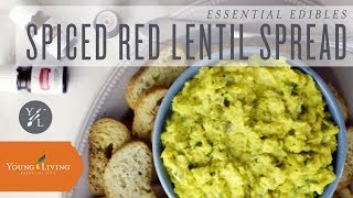 Homemade Spiced Red Lentil Spread with Young Living Essential Oils