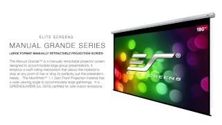 Elite Screens Manual Grande Series Manual Pull Down Projection Screen
