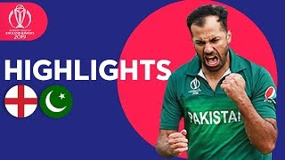 Wahab Stuns Hosts! | England vs Pakistan - Match Highlights | ICC Cricket World Cup 2019