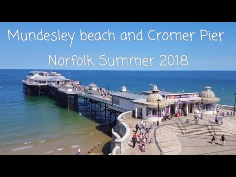 Mundesley Beach and Cromer Pier Norfolk Summer 2018