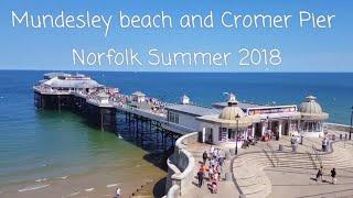 Mundesley Beach and Cromer Pier Norfolk Summer 2018