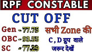 RPF CONSTABLE CUT OFF DECLARED, RPF Constable cut off marks 2019, RPF CONsTABLE C & D Group result