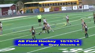 Acton Boxborough Varsity Field Hockey at Westford 10/15/14