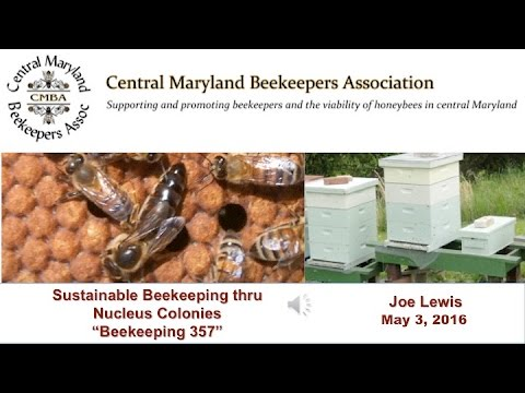 "Sustainable Beekeeping thru Nucleus Colonies ""Beekeeping 357"""
