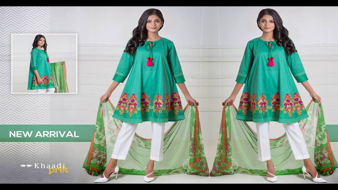 f9ba45ebd3 Khaadi New Arrival Fancy Embroidered Summer Dresses 2017 - YouTube