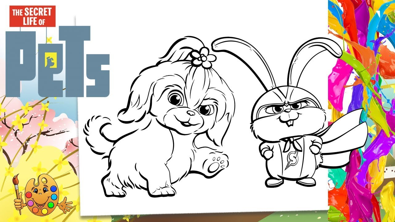 The Secret Life Of Pets 2 Daisy And Snowball Coloring Pages Coloring Book Youtube