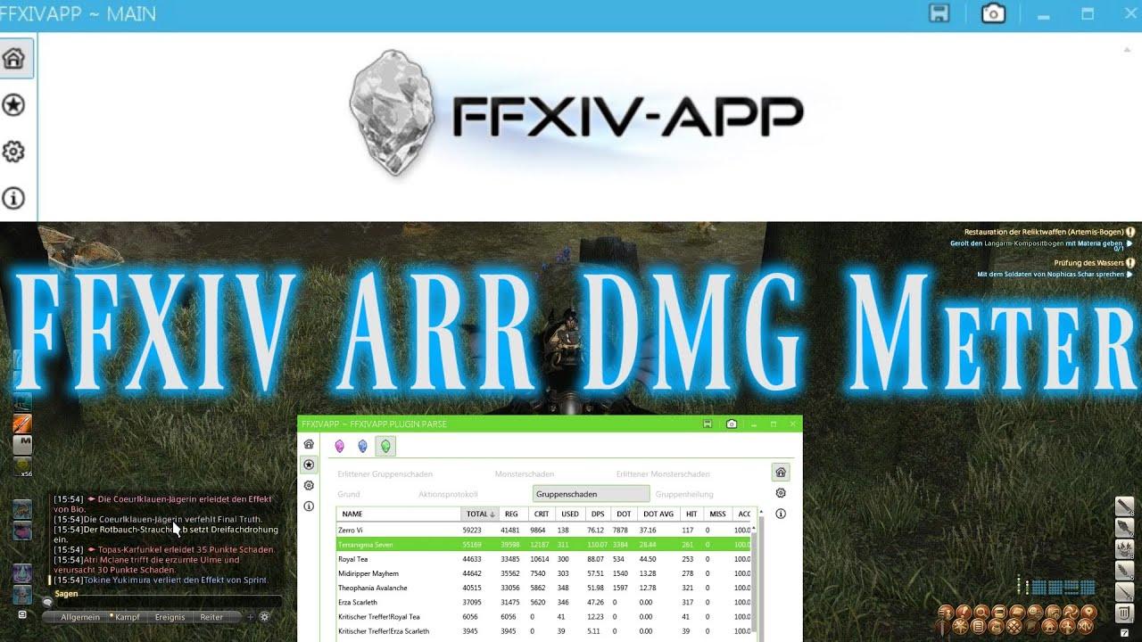 FFXIV ARR Guide - Damage Meter Addon - FFXIV-APP [DPS/DMG für Final Fantasy  XIV, Deutsch]