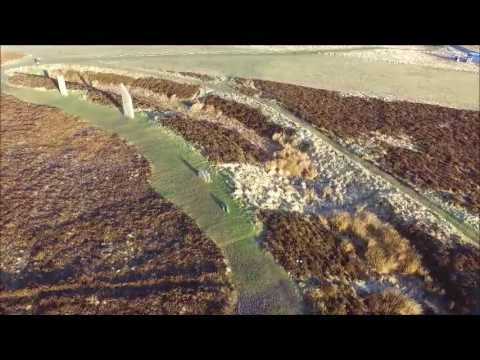 Drone video ... Orkney isles Ring of Brodgar