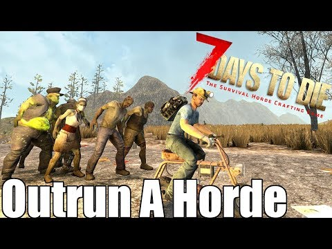 7 Days To Die - Outrun A Blood Moon Horde On A Minibike?