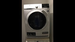 AEG Lavatherm 8000 AbsoluteCare System - First drying cycle