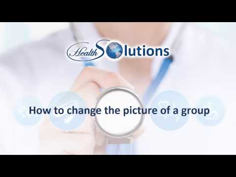 How to change the picture of a group - Health Solutions Communities
