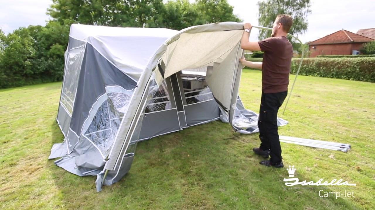 Isabella C&-let Sun Canopy Living guide & Isabella Camp-let Solsejl Living vejledning - YouTube