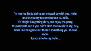HELLO -  Martin Solveig and  Dragonette (LYRICS)
