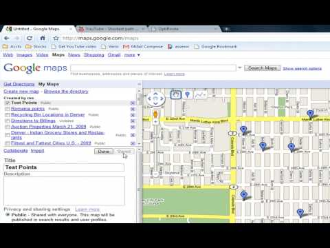 Shortest path to visit a collection of points (Using OptiRoute with Google Maps)