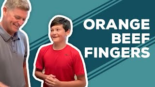 Quarantine Cooking - Orange Beef Fingers