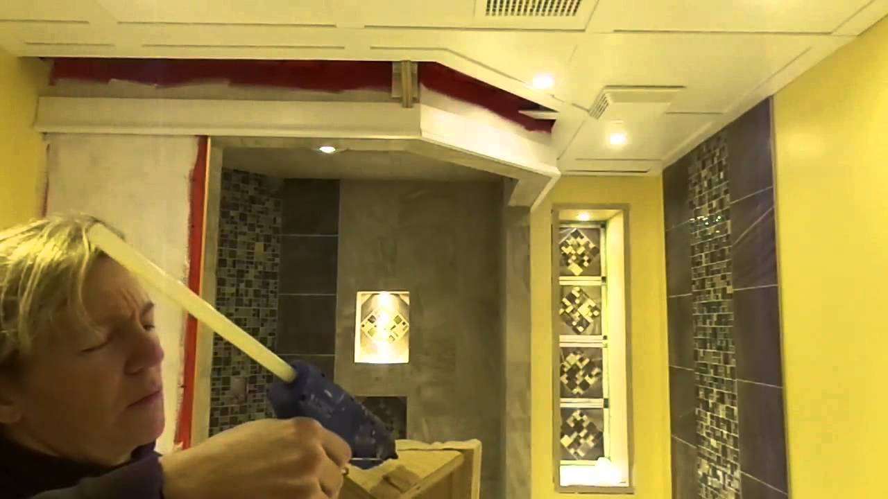 Embassy Insulated Ceiling Installation With Crown Moulding Finish