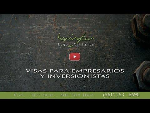 Inmigracion: Visas Para Empresarios Y Inversionistas | Harrington Legal Alliance | WPB, FL