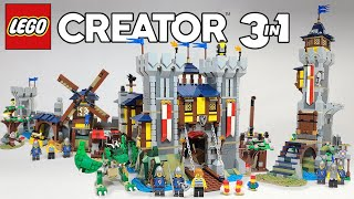 LEGO Creator 3 in 1 Medieval Castle ALL THREE BUILDS (31120) - 2021 Set Review