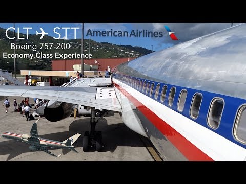 TRIP REPORT | American Airlines | Charlotte To St. Thomas | Boeing 757-200 | Economy Class