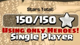 Clash of Clans single player using only heroes! #16-21 (redone)