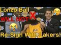 Lonzo Ball Will Not Re-Sign With the Lakers