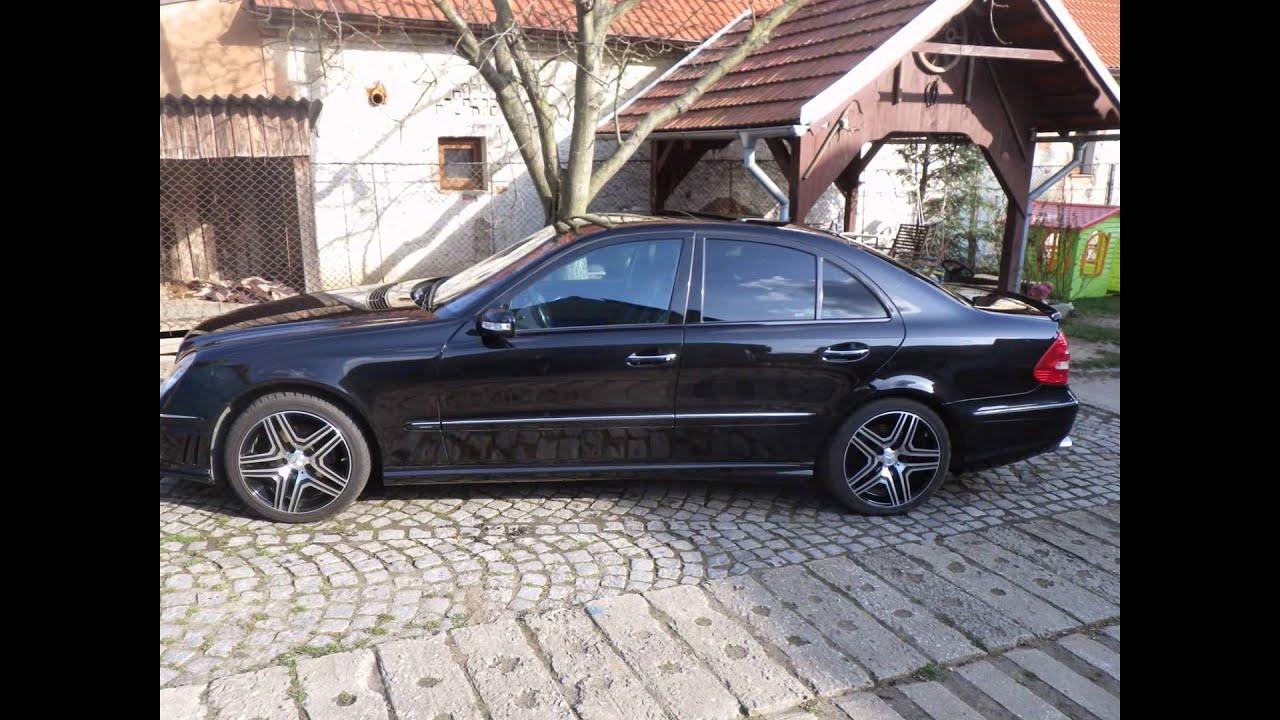w211 mercedes benz e 320 cdi amg body kit tuning 224hp. Black Bedroom Furniture Sets. Home Design Ideas