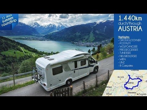 Reisebericht Mit Wohnmobil Knaus Sky Wave 650 MF Durch Österreich / Camping Doku