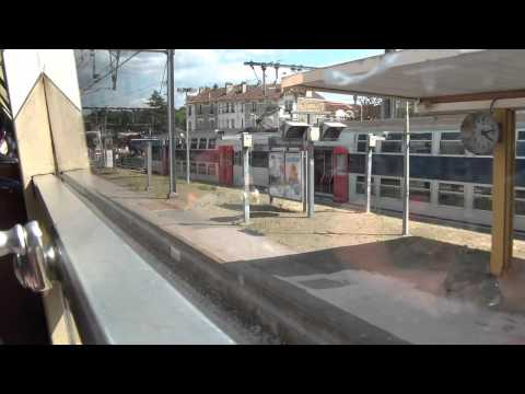 RER Train ride from Versailles to Paris HD
