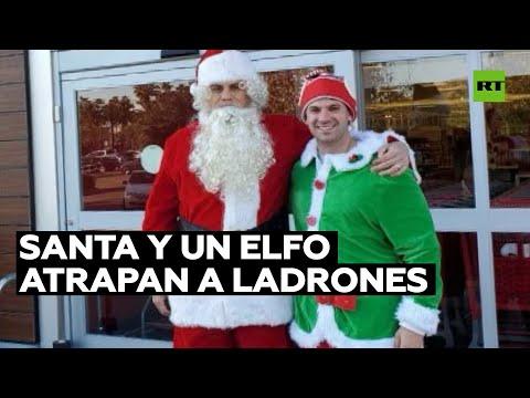 RT en Español: Detienen a dos ladrones disfrazados de Santa y elfo