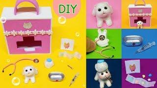 DIY Miniature  animal set - cat hospital ! syringe, medicine ~