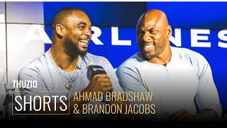 Ahmad Bradshaw And Brandon Jacobs Discuss Key Moments In Their Careers l Thuzio Shorts