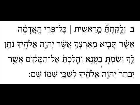 Ki Tavo, 1st Aliyah, Pasuk 2