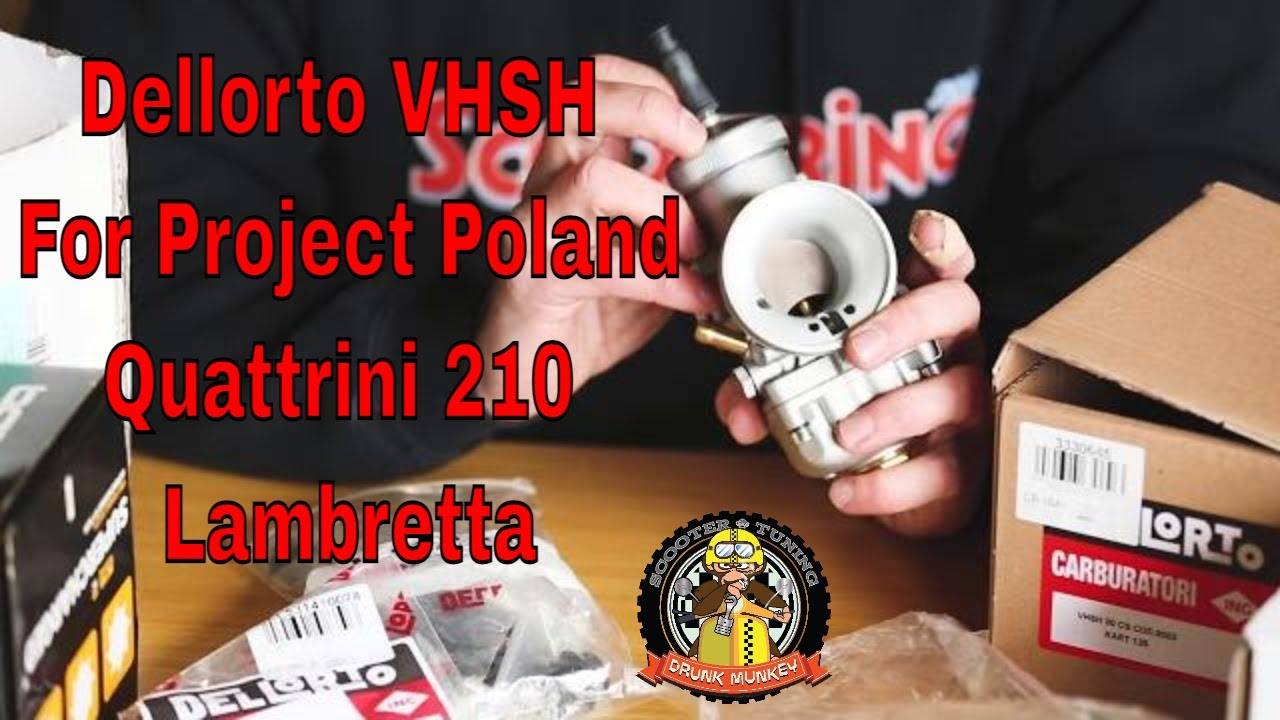 Lambretta 'Project Poland - Part 4' - Dellorto VHSH & 'Fortified' Linkage...