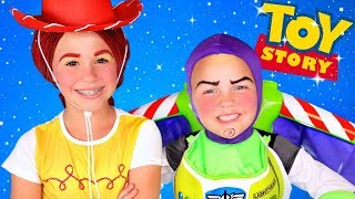 Disney Pixar Toy Story 4 Buzz Lightyear And Jessie Makeup And Costumes!