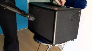 Brief demo - Roland AC60 acoutsic amplifier