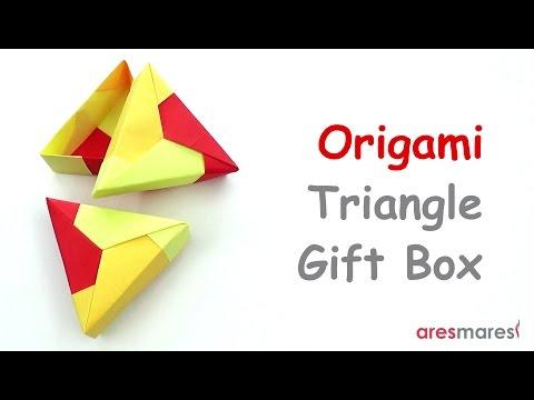 Origami Triangle Gift Box (easy - modular)