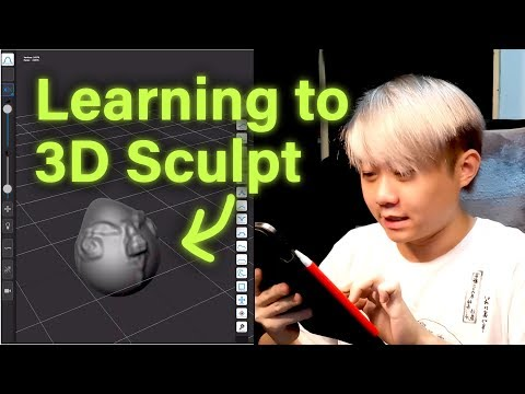 [ NOOB LEARNING 3D SCULPTING ] using the Forger app. PART 1 (NOT TUTORIAL) thumbnail
