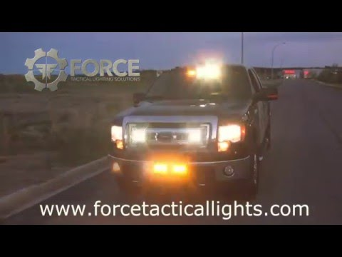 Feniex LED Emergency Lights Demo - Corporate Investigations & Security Safety Truck