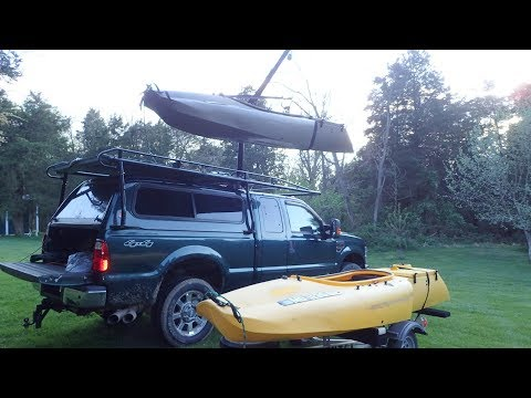 How I Load My Mokai Boat On Top Of My Truck
