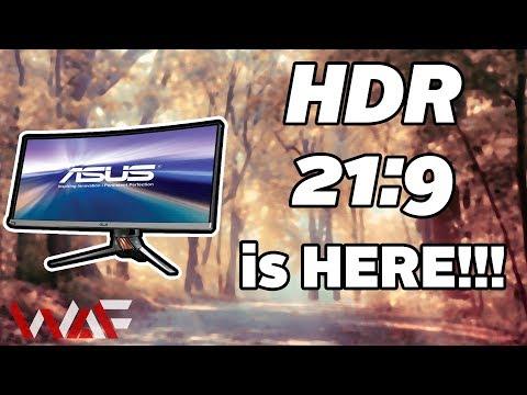 HDR 21:9 + 200Hz + UWQHD - ASUS ROG Swift PG35VQ - YouTube