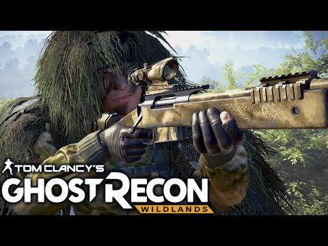 Ghost Recon Wildlands: Ghillie Stealth Sniper Gameplay