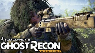 Ghost Recon Wildlands: Ghillie Stealth Sniper Gameplay