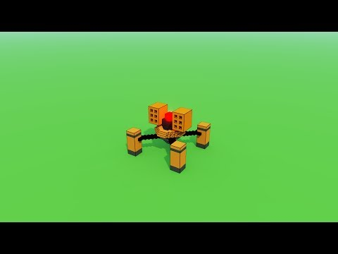 Unity and MagicaVoxel - Bullets and Enemy...