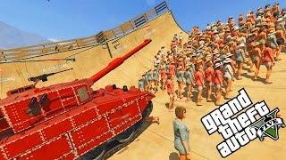 GTA 5: 1000 MENSCHEN GEGEN PANZER! UNGLAUBLICHE SACHEN IN GTA 5