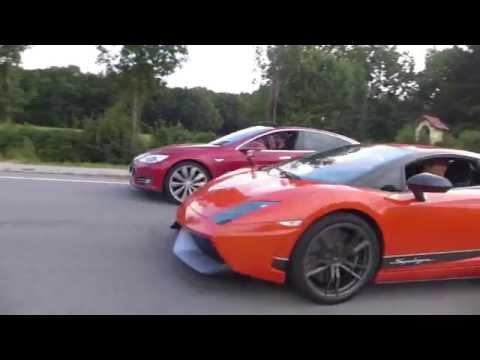 Tesla Model S P85d Vs Lamborghini Gallardo Lp570 4 Superleggera