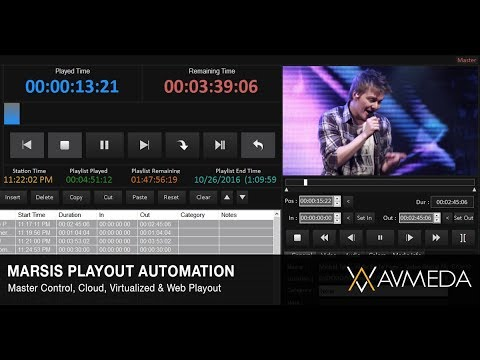 Marsis Playout Automation (MCR - Cloud - Virtualized - Web